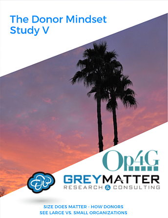 Op4G Donor Mindset Study 5, Donor Perceptions of Small versus Large Organizations, Cover Photo